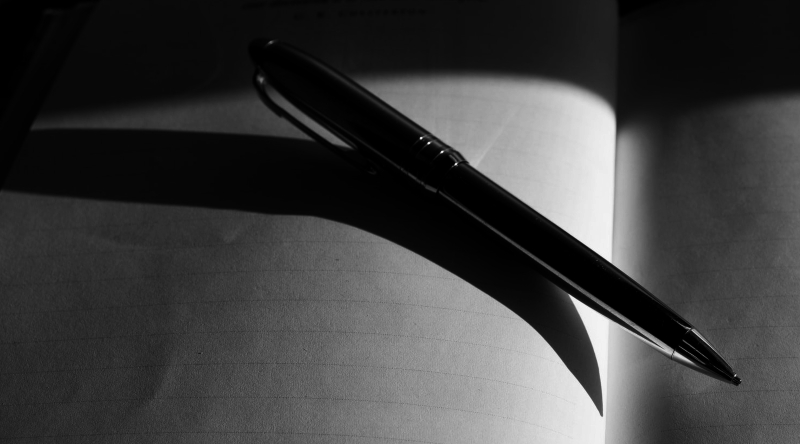 pen and darkness