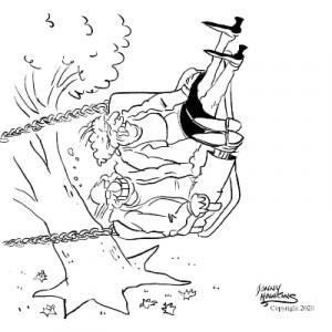 Johnny Hawkins cartoon